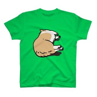 あんよ短くて浮いちゃうコーギー T-shirts