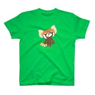 """大耳のレッサーパンダ """"ぐぅぅ…"""" T-shirts"""