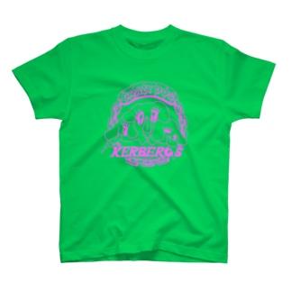 ケルベロスばか犬[ピンク] T-shirts