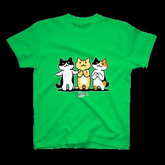 PygmyCat suzuri店の癒してあげ隊(白フチver) Tシャツ