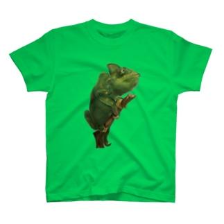 カメレオンのイラスト T-shirts