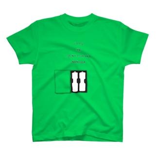 ユーモアデザイン「じつは電池式なのだ」 T-shirts