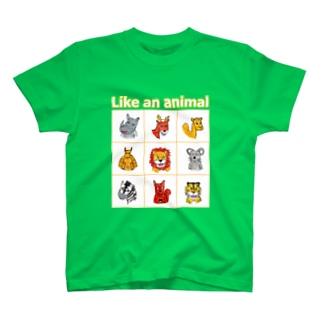 動物、どど~ん T-shirts