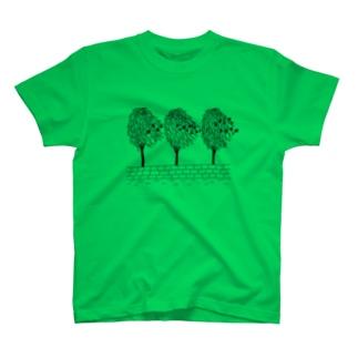 MFGA ブラックインク Tシャツ T-shirts