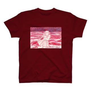 赤い海 Tシャツ