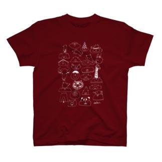 どうぶつMIX(濃色用) Tシャツ