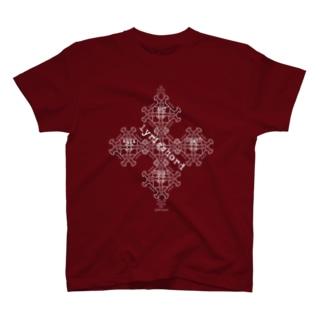 lyricchordスター白ライン/ドローイングアート Tシャツ