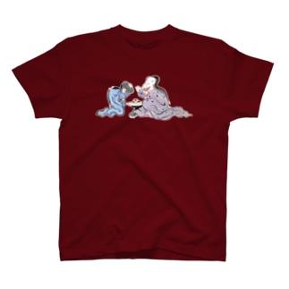百鬼夜行絵巻 鏡の付喪神とお歯黒の妖怪【絵巻物・妖怪・かわいい】 T-shirts