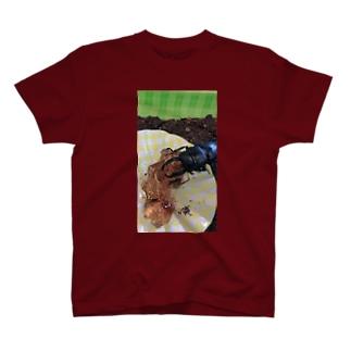 クワガタ好きのためのクワガタ好きによるクワガタにおくるクワガタをモチーフにしたクワガタTシャツinクワガタ T-shirts
