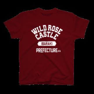 APPARE APPARELの茨城県 WILD ROSE CASTLE T-shirts