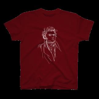 音楽愛好家協会「こんごう」 の【シューベルト】-ホワイト T-shirts