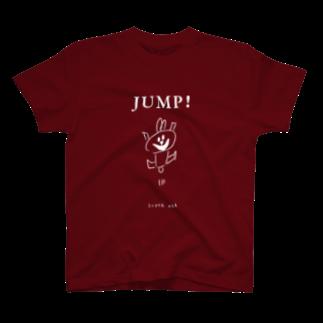 KUMAMIのスーパーうさ JUMP! カラー T-shirts