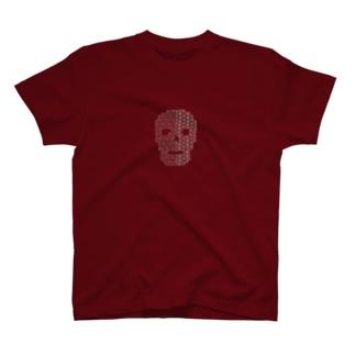 skull (刺し子) T-shirts