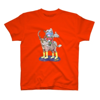 トナカイにのって Tシャツ