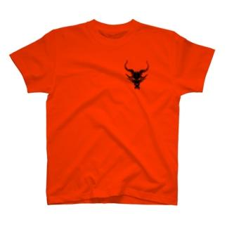 ドラゴンスカル黒 T-shirts