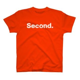 キッズ:  兄弟ナンバリング「2」白プリント  T-shirts