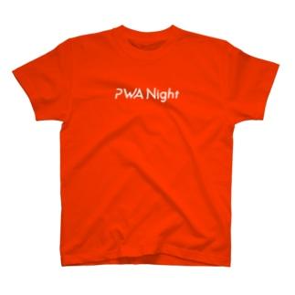 表にロゴで裏にひっそりとぷわん T-shirts