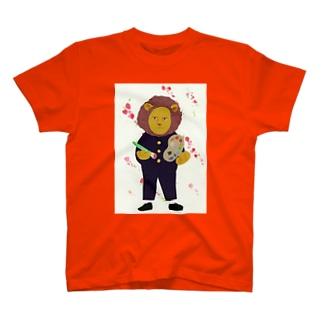 ライオンと桃の花 T-shirts