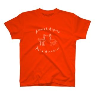 ひこ界シンプルTシャツ(白文字) T-shirts