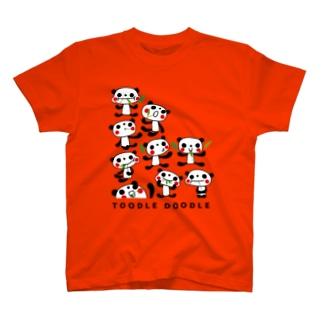 パンダわんさか T-shirts