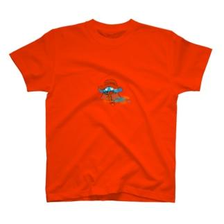うろこのはなはこび スケルトン T-shirts