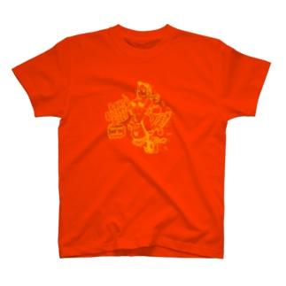 フライングアイガール オレンジ T-shirts