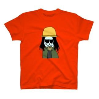 地下労働者ねこTシャツ T-shirts