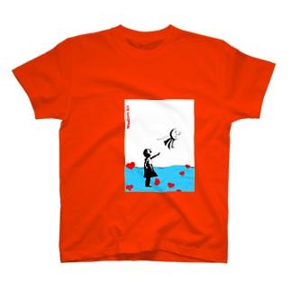 バンクシー風。少女とてるてる坊主。 T-shirts