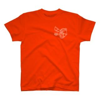 Tシャツ じゃぱんわぷー(白) 濃 T-shirts