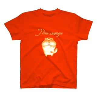 《ネオンシリーズ》*I love orange*しば* T-shirts