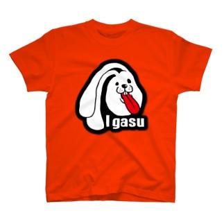 I.gasu ラバー【アイガス】 T-shirts