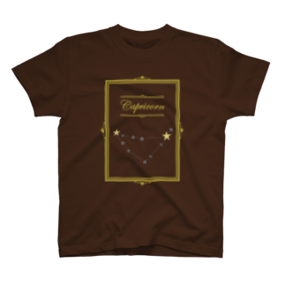 tomokomiyagamiのスタースタッズ星座 山羊座Tシャツ