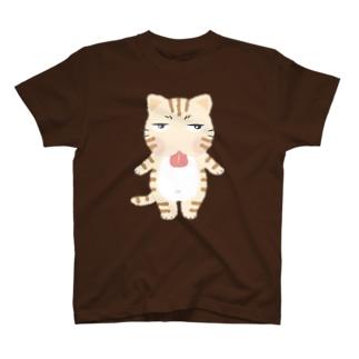 ジトにゃん(トラ) Tシャツ