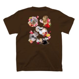 スイーツ大好きなうさちゃんず T-shirts