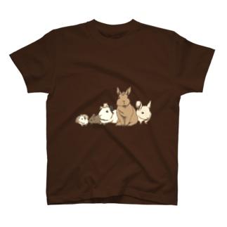 小動物ランド(セピア) T-shirts