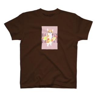 紅葉狩りー木立 T-shirts