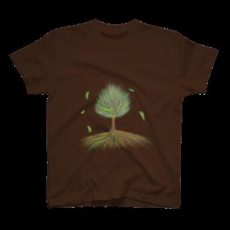 n-eClatちゃんの作品部屋の樹木 T-shirts
