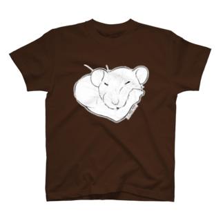 しろちゃんと一緒に筋トレしよう T-shirts