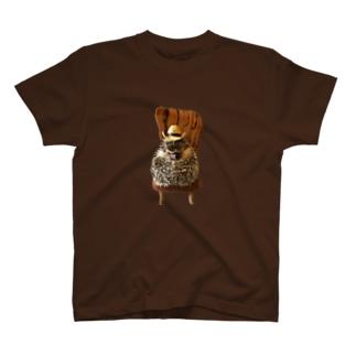 ハリネズミつんさんの秋の装い T-shirts