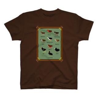 ドットで日本のクイナ T-shirts