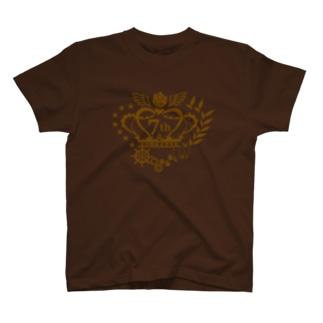 王育7周年ロゴ(ゴールド) T-shirts