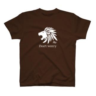 くよくよするなライオン(濃色用) T-shirts