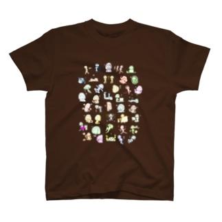 カラフルで言葉少ない女 T-shirts