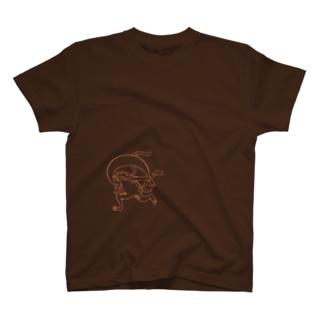 鳥獣戯画の風神雷神 T-shirts