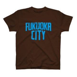 福岡シティTシャツ(ブルーロゴ) T-shirts