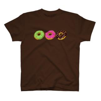 3Dドット ボクセル ドーナツ T-shirts