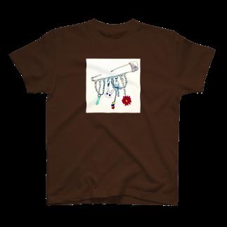 江藤ユーロ⭐️方喰朱音のうさぎブローチ T-shirts