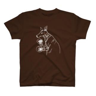 リベンジカンガルー(濃色用) T-shirts