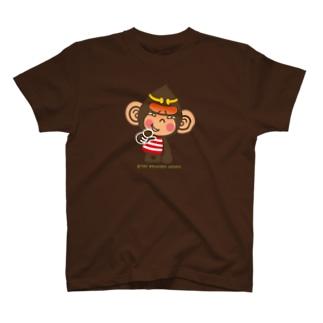 """ドングリ頭のチンパンジー""""失笑"""" T-shirts"""