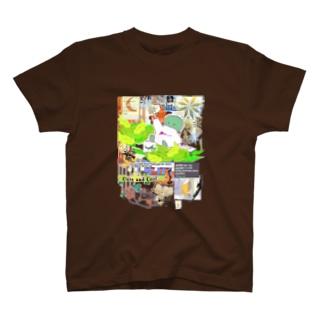 304★月山いつこ作品●雪空■緑の2 T-shirts